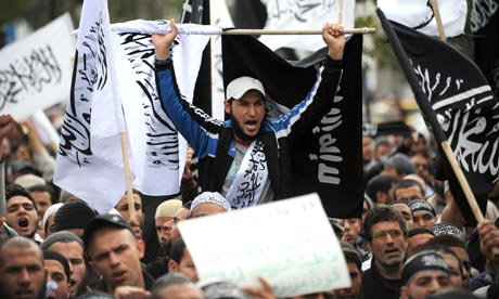 Tunisian salafists demonstrate in Tunis