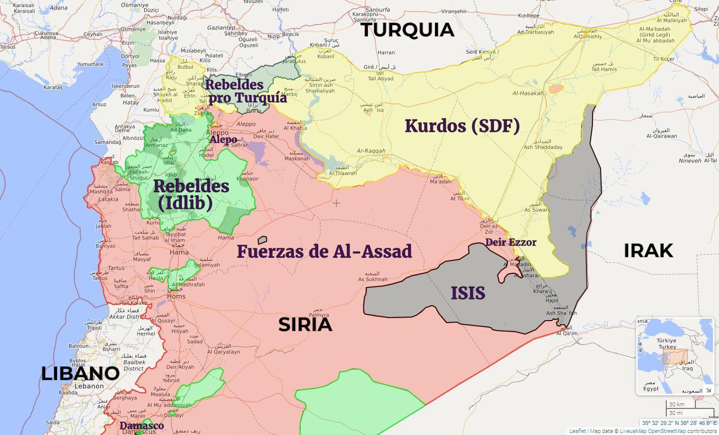 Configuración territorial cambiante: las fuerzas de Al-Assad avanzan sobre Deir Ezzor