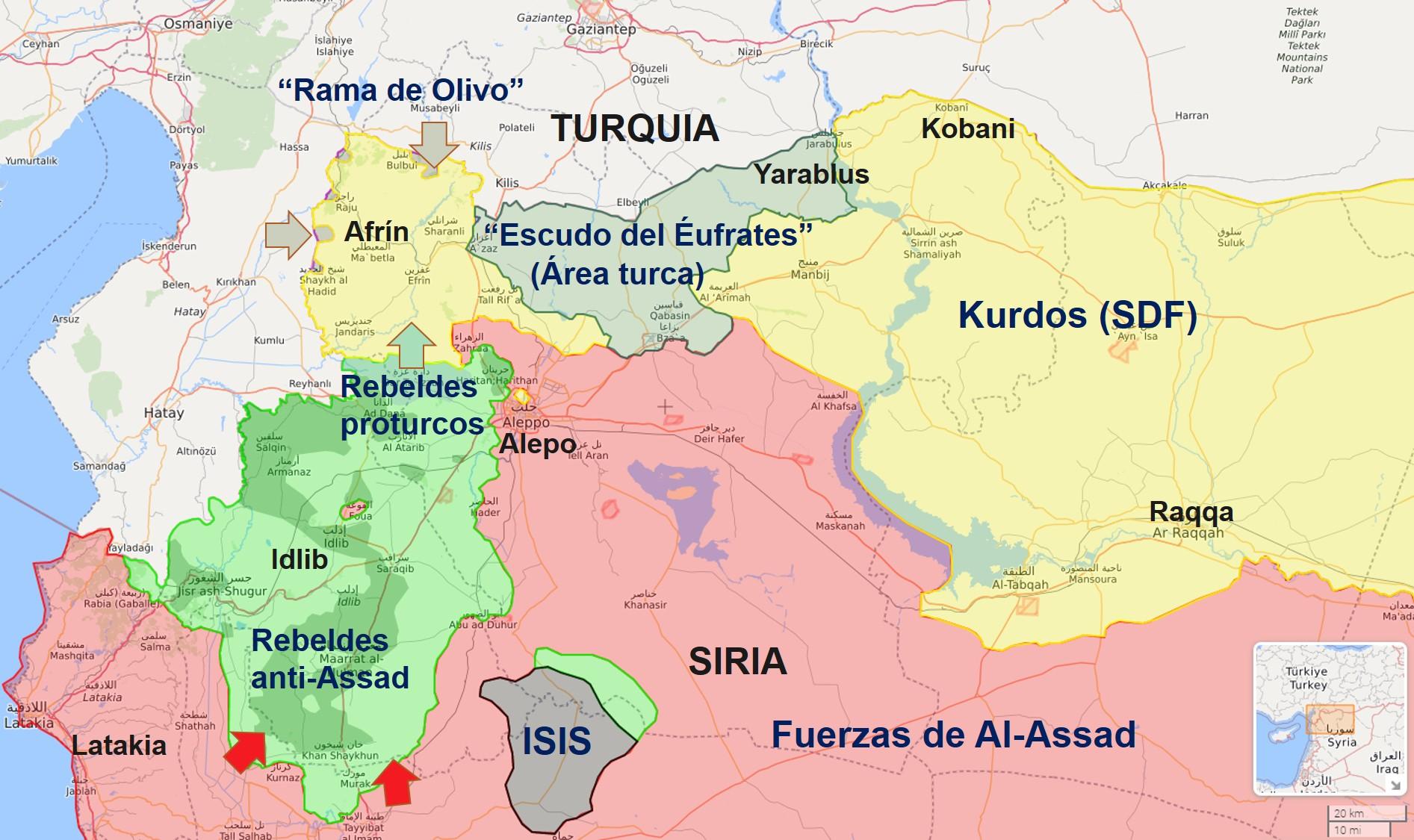 Mapa Siria Federico Gaon